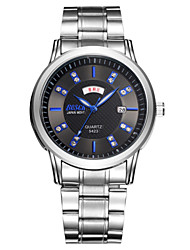 Black/white/blue men Quartz watch