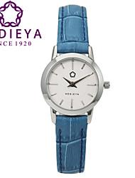 Mulheres Relógio de Moda Quartz Couro Banda Azul marca