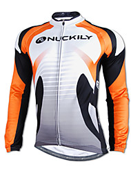 NUCKILY® Cycling Jacket Men's Long Sleeve Bike Waterproof / Windproof / Rain-Proof / Reflective Strips Jersey / TopsVelvet / Polyester /