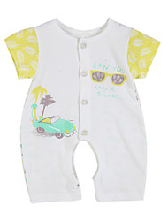Girl's Clothing Set,Cotton Summer / Spring Yellow