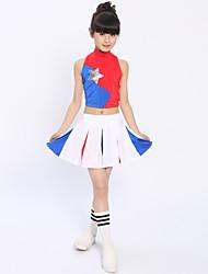 Asusteet-Polyesteri-Laskostettu-Cheerleader-asut-Lasten-Värikäs