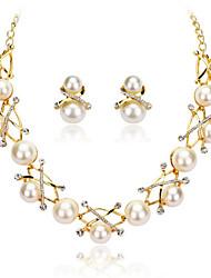 Collier / Boucles d'Oreille(Imitation Perle / Tissu)Soirée / TravailpourFemme