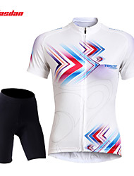 TASDAN® Cycling Jersey with Shorts Women's Short Sleeve Breathable / Quick Dry / 3D Pad / Reflective Strips / Back Pocket / Sweat-wicking