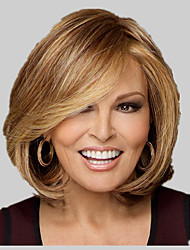 Top Quality Fashion Middle Short Wavy Wig Woman's Synthetic Wigs Hair Freeshipping