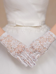 Wrist Length Fingertips Glove Lace Bridal Gloves Party/ Evening Gloves lace