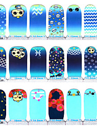 14PCS Series Of The Constellation Environment  Full Nails Stickers