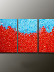 Hand-Painted Floral/Botanical Modern Oil Painting,Canvas Three Panels