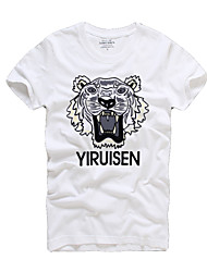 The new trend of European sports fashion leisure men's short sleeved T-shirt printing - absorbent breathable