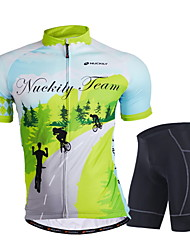 NUCKILY® Cycling Jersey with Shorts Men's Short Sleeve BikeBreathable / Quick Dry / Windproof / Anatomic Design / Ultraviolet Resistant /