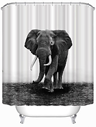 "Modern Elephant Polyester Shower Curtains W71""×L71"""