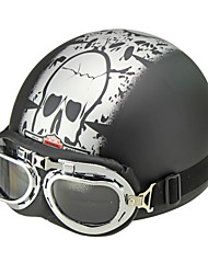 Motorcycle Goggles Half Helmets Cruiser Scooter Touring Helmet Skull
