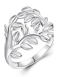 Ring Silver Plated Simple Style Silver Jewelry Daily 1pc