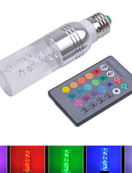 3W RGB E27 Standard Screw Base 16 Colors ChangingLED Crystal Light Bulb with IR Remote Control(85-265V)