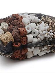 500g Fish Tank Aquarium Filter Material Ceramic Ring Glass Ring  Bateria House Filter Media