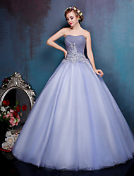 Princess Wedding Dress-Floor-length Sweetheart Crepe / Lace / Organza / Tulle