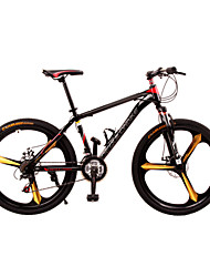 Dequilon Warriors 26-inch mountain bike dual disc brakes shift Mito black and red 21-speed version Leisure