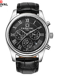 Carnival Watch Star Series Men Full Automatic Machine Table Three Eye Six Pin Multi Function Men's Watch