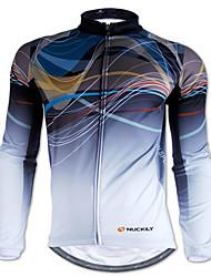 NUCKILY® Maillot de Cyclisme Homme Manches longues Vélo Etanche / Garder au chaud / Pare-vent / Bandes RéfléchissantesMaillot /