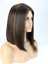 en stock culminant 1b / 30 bob droite brazilian dentelle cheveux vierges perruque avant