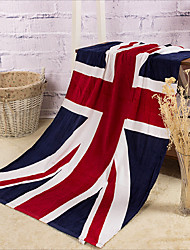 Full Cotton UK Flag Bath Towel
