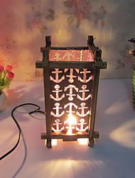 bois créatif le don de la lampe de la chambre de lampe contenant de la lampe en treillis décoration de bureau pour enfant