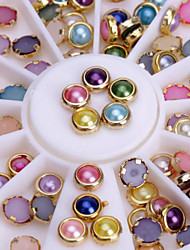 Colorized Alloy Nail Art Glitter Rhinestone Pearl Studs Stickers Decoration Tool