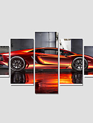 Canvas Print Art Set Of 5 Wall Pictures For Linving Room Abstract Car Pictures Home Decor