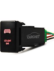 12v pousser feux arrière à LED interrupteur rouge pour toyota prado 150 landcruiser 200 rav4