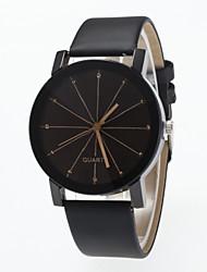 Mulheres Relógio de Moda Simulado Diamante Relógio Quartzo imitação de diamante PU Banda Preta Preto