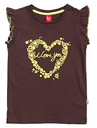 Girl's Tee,Cotton Summer Blue / Brown / Purple