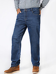 Men's Pure Trousers,Cotton / Spandex Casual / Plus Sizes Loose Add fertilizer to increase Straight Jeans