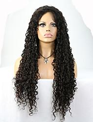 """8 """"-24"""" cabelo do bebê brasileiro do cabelo virgem glueless encaracolado rendas frente peruca cor natural preto para as mulheres negras"""