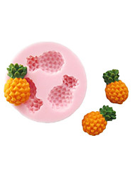 Three Holes Pineapple Fruit Silicone Mold Fondant Molds Sugar Craft Tools Chocolate Mould  For Cakes