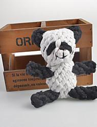 Cães Brinquedos para Animais Brinquedos para roer Panda Branco Téxtil