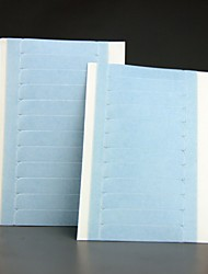 Super Adhesives Blue Replacement Tape 4cm*0.8cm 24 tabs 2 Sheets Double-sided Lace Front Support Tape Strips