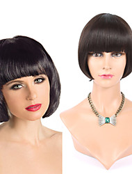 "8"" Human Hair Hand Top Made Wig Bob Wigs Brazilian Hair Short Human Hair Wigs Human Hair Full Wigs"