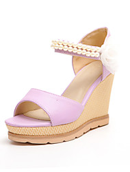 Women's Shoes Heels Wedges/Sling back/Open Toe Sandals Dress/Casual Blue/Pink/Purple/White