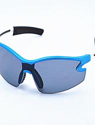 lunettes de sport bleu et blanc