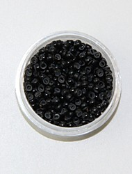Black Silicon Nano Ring Beads Small Loop Micro Links Tubes for Nano Ring Hair Extensions 1000pcs/color/lot