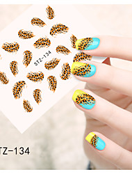 1pcs  Water Transfer Nail Art Stickers  Colorful Flower Nail Art Design STZ134-140
