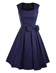 Lolita classica e tradizionale Smanicato Lunghezza media Blu Cotone Lolita Dress