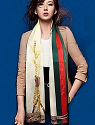Factory Direct Chain Striped Scarves Sunscreen Silk Scarf