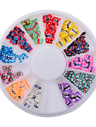 1wheel Butterfly Polymer Clay Fimo 3d Nail Art Decorations