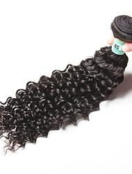 """1pc / lot 12 """"-26"""" 5a brasilianisches reines Haar tiefe Welle Menschenhaarverlängerungen 100% unverarbeitetes brasilianisches remy Haar"""