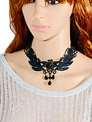 Necklace Choker Necklaces / Torque / Gothic Jewelry Jewelry Halloween / Wedding / Party / Daily / Casual Lace / Fabric Black 1pc Gift