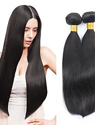 3pcs cabelo humano malaio cabelo liso tece cor natural do cabelo virgem 8-26 polegadas