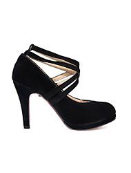 Zapatos de mujer-Tacón Stiletto-Tacones-Tacones-Oficina y Trabajo / Vestido / Casual-Semicuero-Negro / Beige
