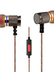 3.5mm écouteurs filaires (dans l'oreille) pour lecteur multimédia / tablette | téléphone mobile | ordinateur avec microphone