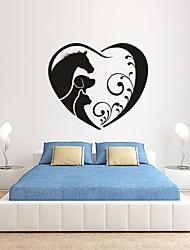 Animaux / Romance / Mode / Forme / Abstrait Stickers muraux Stickers avion,PVC S:35*38cm/ M:42*45cm / L:55*59cm