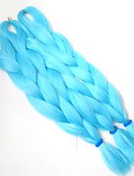 1-12packs colore bule intrecciare i capelli a temperatura elevata intrecciare i capelli 100g / pcs estensioni dei capelli intrecciare